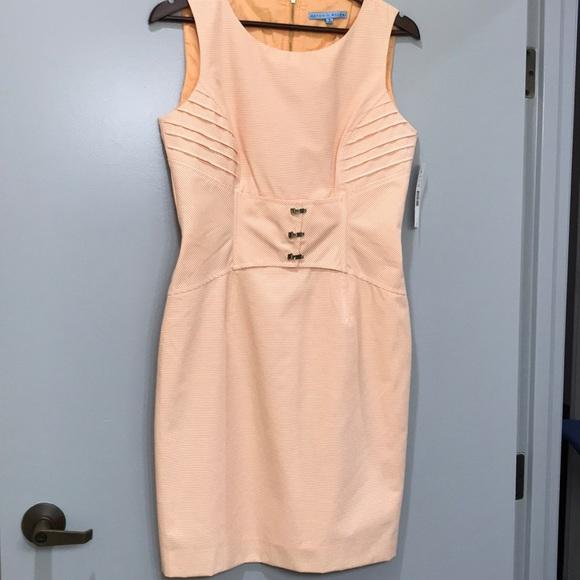 700aa41e1df Antonio Melani apricot white bodice detail midi 8